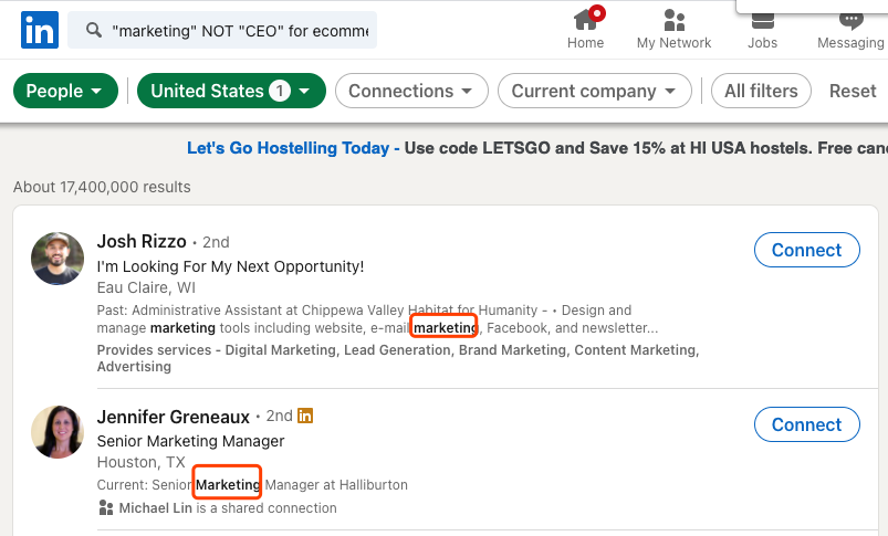 marketing NOT CEO for ecommerce